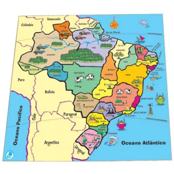 Quebra-Cabeça Mapa Regiões Estado - Simque